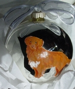 Nova Scotia Duck Tolling Retriever Hand Painted Christmas Ornament