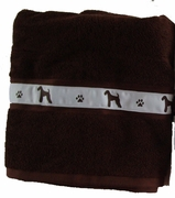 Airedale Terrier Bath Towels