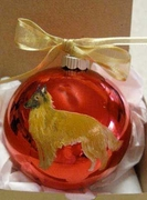 Belgian Tervuren Hand Painted Christmas Ornament