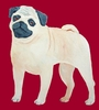 Pug Cutie Original Artwork Greeting cards - Set of Five