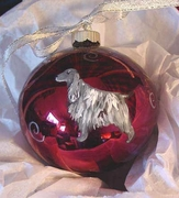 English Cocker Spaniel Hand Painted Christmas Ornament