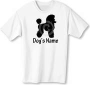 Poodle-Toy, Mini, Standard T-Shirt with Dog's Name