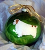 Clumber Spaniel Hand Painted Christmas Ornament