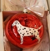 Dalmatian Hand Painted Christmas Ornament
