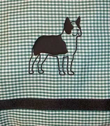 Boston Terrier Window Valance