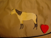 Buckskin Horse Messenger Bag