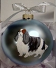 English Toy Spaniel Hand Painted Christmas Ornament