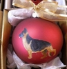 German Shepherd Dog Hand Painted Christmas Ornament