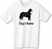 Bernese Mountain Dog T-Shirt Personalized with Dog's Name