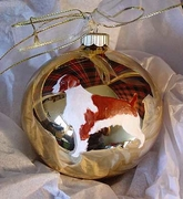 Brittany Hand Painted Christmas Ornament
