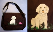 Clumber Spaniel Puppy Messenger Bag