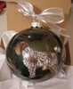 Wirehaired Pointing Griffon Hand Painted Christmas Ornament