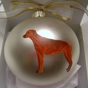 Rhodesian Ridgeback Hand Painted Christmas Ornament