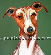 Whippet Original Artwork Greeting cards - Set of Five