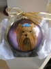 Yorkie Head/Face Hand Painted Christmas Ornament