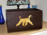 Afghan Hound Hand Painted Leather Box