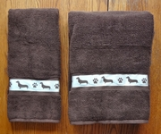 Dachshund - Smooth Bath Towels