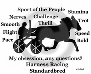 Standardbred Horse Obsession T-Shirt
