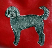 Labradoodle Hand Painted Purse