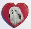 Havanese Hand Painted Heart Pin
