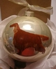 Irish Setter Hand Painted Christmas Ornament