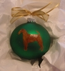 Irish Terrier Hand Painted Christmas Ornament