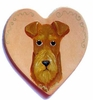 Irish Terrier Hand Painted Heart Pin