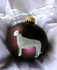 Irish Wolfhound Hand Painted Christmas Ornament