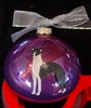 Italian Greyhound Hand Painted Christmas Ornament