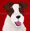 Jack Russell Terrier Cutie Original Artwork Greeting cards - Set of Five