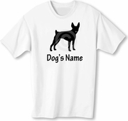 Toy Fox Terrier T-Shirt Personalized with Dog's Name