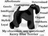 Kerry Blue Terrier Obsession T-Shirt