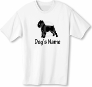 Brussels Griffon T-Shirt Personalized with Dog's Name