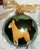 Miniature Pinscher Hand Painted Christmas Ornament