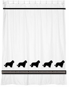 Bearded Collie Shower Curtain