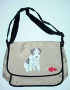 Wire Fox Terrier Puppy Messenger Bag