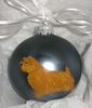 Norfolk Terrier Hand Painted Christmas Ornament