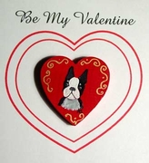 Boston Terrier Hand Painted Pin