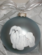 Havanese Hand Painted Christmas Ornament