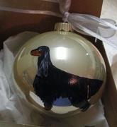 Gordon Setter Hand Painted Christmas Ornament