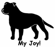 Staffordshire Bull Terrier My Joy! My Love! My Life! T-Shirt