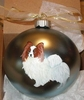 Papillon Hand Painted Christmas Ornament