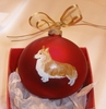 Pembroke Welsh Corgi Hand Painted Christmas Ornament