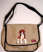 Beagle Puppy Hand Painted Messenger Bag