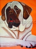 Mastiff Original Artwork Greeting cards - Set of Five