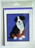 Bernese Mountain Dog Original Artwork Greeting cards - Set of Five