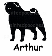 Pug T-Shirt Personalized with Dog's Name