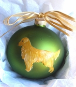 Golden Retriever Hand Painted Christmas Ornament