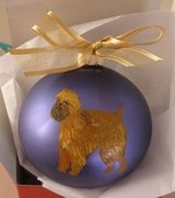 Brussels Griffon Hand Painted Christmas Ornament