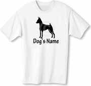 Miniature Pinscher T-Shirt Personalized with Dog's Name